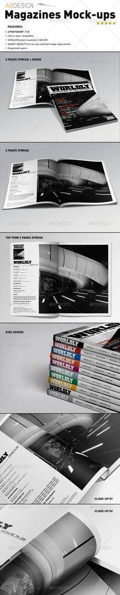 Realistic Magazines Mock-ups Templates - GraphicRiver $7