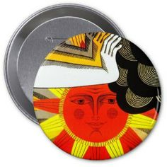 Sunny Day - Huge Round Button #buttons #humor