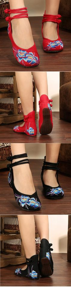 US$14.12  Embroidery National Wind Shoes