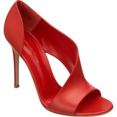 Gianvito Rossi Asymmetric Open Toe Sandal ($685) ❤ liked on Polyvore