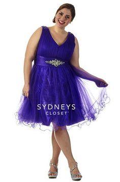 e393d3480f Sydney s Closet SC8074 Plus Size Party Dresses