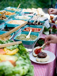 A potluck is a great way to let go of some responsibility and also incorporate new foods into the mix.