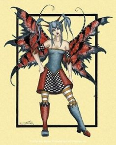 amy brown black fairies   Amy Brown Sticker Decal FRACAS Fairy Faery Punk Goth