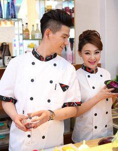 Resultado de imagen para uniformes de chef mujer Hotel Uniform, Uniform Shop, Filipina, Work Attire, Chef Coats, Chef Jackets, Sewing Projects, Branding, Hindus