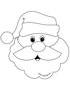 Santa Claus Face With Big Beard
