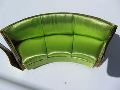 Ideal Petite Princess Fantasy Furniture Green Curved Salon Sofa 1964 | eBay