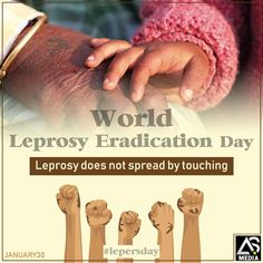 We wish for a happier and healthier world free from leprosy on the occasion of World Leprosy Eradication Day. Advertising, Branding, Digital, World, Healthy, Day, Free, Brand Management, The World