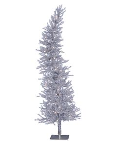 Make the Silver Dazzling Diva Christmas Tree the brightest star of your décor! This curvy, slim tree sports a unique silhouette that enchants from every angle.