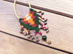 Beaded Knit Necklace