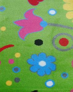 Παιδικά χαλιά επιθυμητών διαστάσεων : Παιδικό χαλί επιθυμητών διαστάσεων-PETIT 1539 GREEN