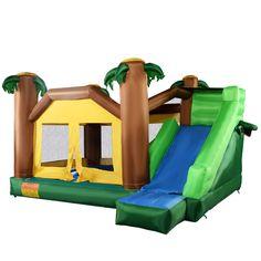Goplus Inflatable Moonwalk Jungle Bounce House Jumper Bouncy Jump Bouncer Castle  | eBay