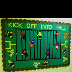 how to draw a football field on poster board