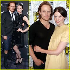I love the yellow dress! Outlander's Sam Heughan Rocks a Kilt at Comic-Con with Caitriona Balfe!