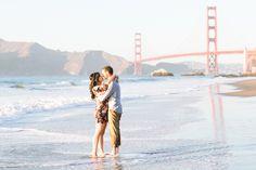 San Francisco Engagement Session: Golden Gate Park + Baker Beach – Sarena + Vinnie