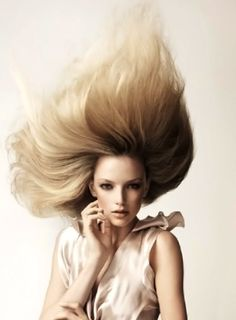 Hair: Angelo Seminara, British Hairdressers of the year 2008 Finalist, Salon: Trevor Sorbie . Formal Hairstyles, Messy Hairstyles, Straight Hairstyles, Blonde Hairstyles, Angelo Seminara, Pelo Formal, Wind Blown Hair, Fantasy Hair, Creative Hairstyles