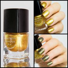 BPS Stamping Polish in Gold. http://www.blingfinger.net/2015/01/bps-gold-stamping-polish.html