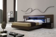 J Barza Platform Bed Set Modern Bedroom Beds Contemporary