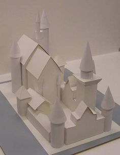 Make paper and Cardboard Castle: Neuschwanstein - This is a complete tutorial on how to make this copy of Neuschwanstein castle with paper and cardboard. You can use posterboard or even cereal boxes to make this castle. I also have a youtube video of this castle if you want to take a look at it.