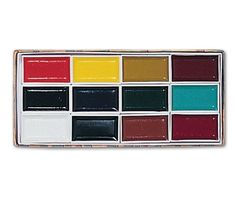 Yasutomo Sumi-E Watercolor Set. The finest quality watercolors used by Japan's watercolor and Sumi-e painters can be found in this set of twelve colorfast colors in reusable rectangular plastic containers, stored in a decorative paper box. Wholesale Craft Supplies, Craft Supplies Online, Discount Art Supplies, Marriage Advice Cards, Sumi E Painting, Japanese Watercolor, Yellow Pearl, Discount Bedding, Military Discounts
