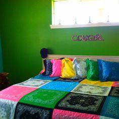 Bandana bedspread