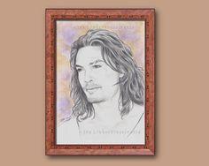 Jason Momoa - original Zeichnung, Drawing, Bild, Porträt