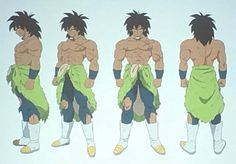 Broly Character Designs
