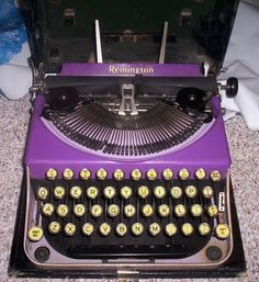 the only purple typewriter ever made - 1920s! I own this!