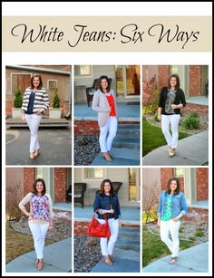 Clothed with Grace: White Jeans: Six Ways