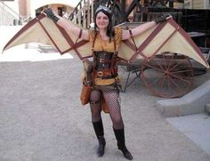 Articulating Wings for costumes!!! So Awesome!!! Dragons, steampunk, bat so many possibilities...