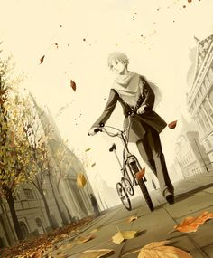 ADOPTED Emil loves fall more than any other season. He rides his bike everywhere, because he's very environmentally friendly. He's very nice, but he can come off as if he doesn't care about you sometimes because he dozes off easily.