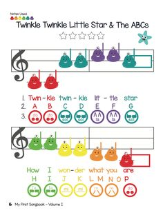 Twinkle Twinkle Little Star > The ABCs > Baa Baa Black Sheep Sheet Music for Boomwhackers and Chromanotes Deskbells (Preschool Prodigies Music Lesson) Music For Toddlers, Music Lessons For Kids, Music Lesson Plans, Piano Lessons, Preschool Music Activities, Kalimba, Elementary Music, Elementary Schools, Music Classroom