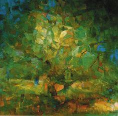 L'Albero di Aachen - Olio su tela 124 x 124 - 1992
