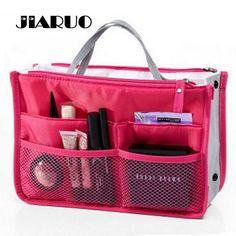 Clear Compact Portable Make up Women Makeup Organizer Bag Girls Cosmetic Bag Toiletry Travel Kits Storage bag Hand bag track