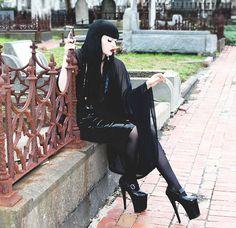 ADELE PSYCH ' Sorceress' Glam Goth Rock Witch Style by AdelePsych, $170.00