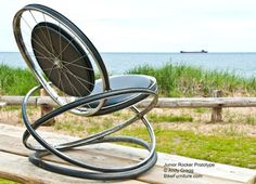 . . . . . How to Recycle: Recycled Bike Rims into Chair