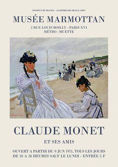 Monet Exhibition, Art Exhibition Posters, Claude Monet, Kandinsky Art, Museum Poster, Plakat Design, Renaissance Art, Poster Prints, Art Prints
