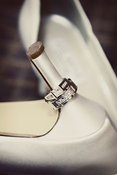 Love this photo! The wedding rings are beautiful! Photo by Chris Next Wedding, Wedding Engagement, Dream Wedding, Jewelry Photography, Engagement Photography, Wedding Photography, Bride Shoes, Diamond Wedding Rings, Jitter Glitter