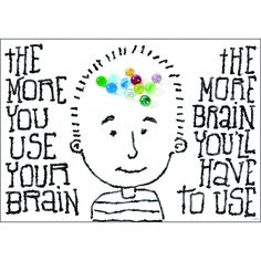 THE MORE YOU USE YOUR BRAIN POSTER
