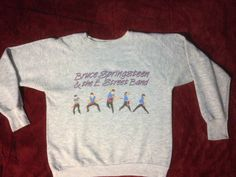 "Bruce Springsteen very RARE Vintage Sweatshirt, MINT condition, UNUSUAL design,1 980's,  ""Tunnel of Love "" grey.  ready to ship, for her by borntolovebruce on Etsy"