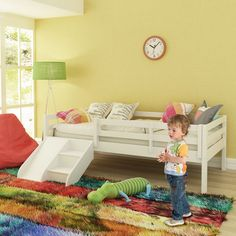 Cama Infantil Prime com Grade de Proteção e Kit Escadinha/ Escorrega - Casatema - CasaTema