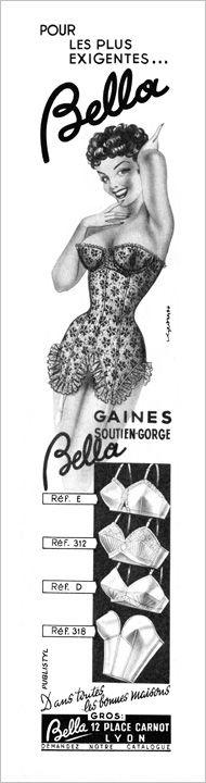 Vintage Lingerie Ad, how divine and fabulous is this corset?! black lace vintage corset