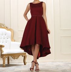 012d4d148 Vestidos asimétricos para bodas y fiesta. Vestidos originais para convidada  e casamento. Vestidos Rojos