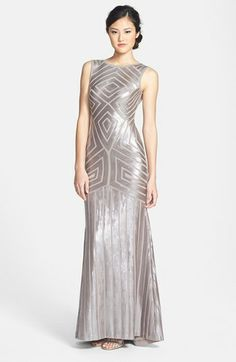 BCBGMAXAZRIA Metallic Sequin Gown available at #Nordstrom