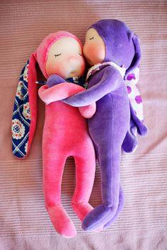 Hasenwahnsinn, Waldorfpuppe, Bunny Waldorf Doll, | Schomburg Ingwersen