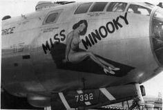 "B-29 Super Fortress ""Miss Minooky"" nose art"