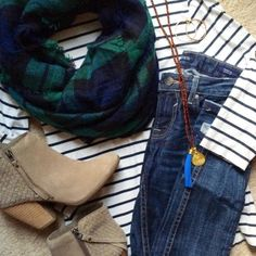 Hi Sugarplum!: Fall's Essential Seven - stripes and plaid combo
