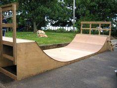 Backyard Skatepark, Backyard Pavilion, Half Pipe Plans, Mini Ramp, Skateboard Ramps, Skate Ramp, Skate Board, Bicycling, Skateboarding