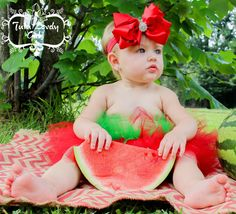 Watermelon tutu summer by 2tuLovelyGirls on Etsy https://www.etsy.com/listing/191379690/watermelon-tutu-summer