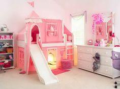 Looks like a daughters' bedroom.