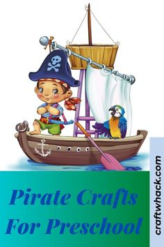 Pirate crafts for preschool kids are a sure win, and Craft Whack has some fun and exciting pirate crafts for you and your preschooler. If you are planning a themed pirate birthday party or having a pirate-themed week, you can undoubtedly implement our ideas there. Some of the crafts use readily available materials, with some projects being a little more complicated than others. Children will love to create the projects you can find here. #PirateCraftsforPreschool #PirateCrafts #KidsArt
